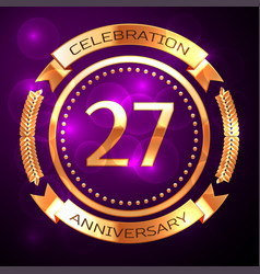 Twenty seven years anniversary celebration with vector