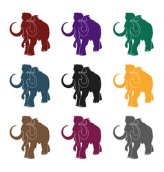 woolly mammoth icon in black style isolated on vector image vector image