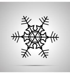 Simple black snowflake icon vector image