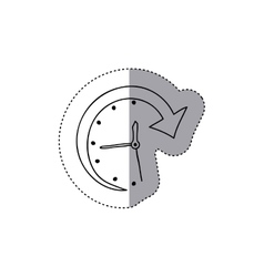 Isolated clock of call center design vector