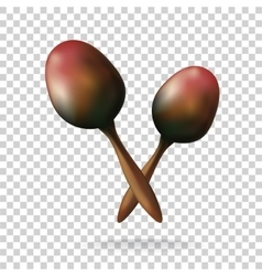 Maracas on transparent background Mexico vector image