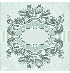 ornate vintage template vector image