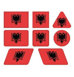 Buttons with flag of albania vector