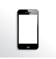 Mobile phone black vector