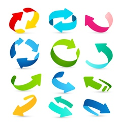 Set of colored arrows icons vector