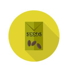 Pack with seeds flat icon vector