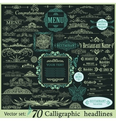 Calligraphic vintage design elements vector