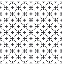 Abstract black and white seamless geometric vector