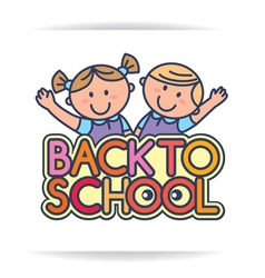 Back to school logo vector image