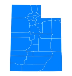 Map of Utah vector image