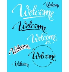 Welcome sign symbol word welcome vector