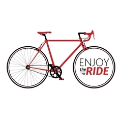 Classic mens town road bike with enjoy the ride vector