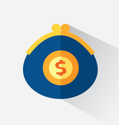 a purse with money vector image