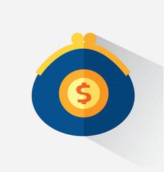 A purse with money vector