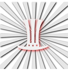 American hat on radiant background vector image