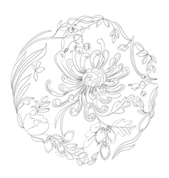 background with floral element vector image