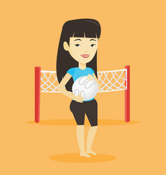Beach volleyball player vector