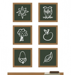 blackboard icons vector image vector image