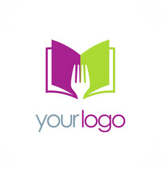 book recipe logo vector image
