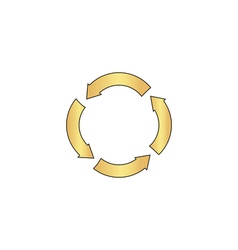 Circle arrows computer symbol vector