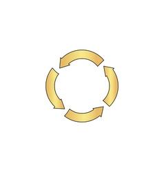 circle arrows computer symbol vector image