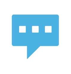 Conversation bubble mobile messaging icon image vector