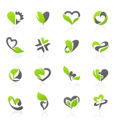 Eco themed design elements vector image vector image