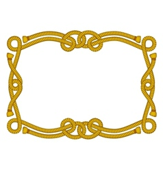 fancy rope frame vector image