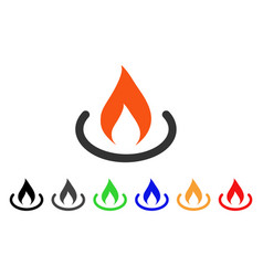 Fire place icon vector