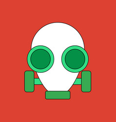 Flat icon design collection gas mask vector