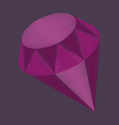 Flat shading style icon diamond expensive jewelery vector