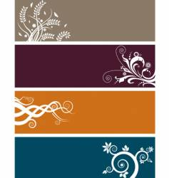 floral background banners vector image