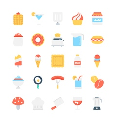 Food Colored Icons 6 vector image vector image