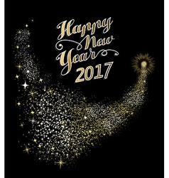 Happy New Year 2017 gold firework vector image vector image