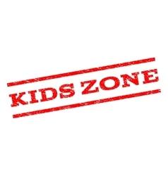 Kids zone watermark stamp vector