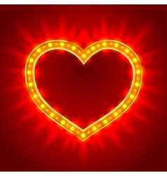 Light heart vector image vector image