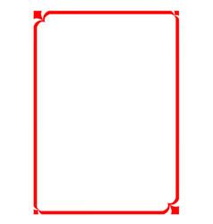 Modern pattern frame board vector