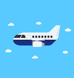 pixel aircraft vector image vector image