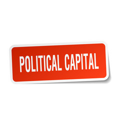 Political capital square sticker on white vector