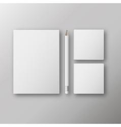 realistic branding mock up vector image