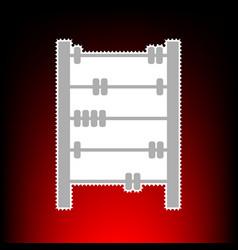 retro abacus vector image