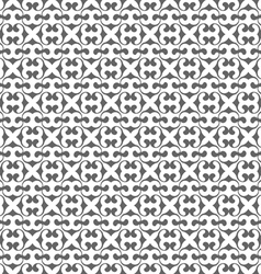 Seamless monochrome pattern in Arabic style vector image