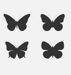 Set of butterflies butterflies silhouettes vector