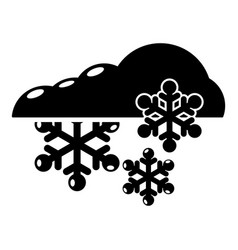Snowflake icon simple black style vector