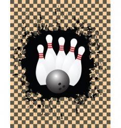 Tenpin bowling vector