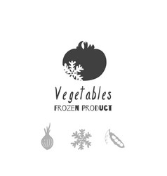 vegetables logo template vector image vector image