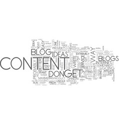 Where to get content for your blog text word vector
