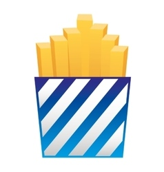French fries fast food icon vector