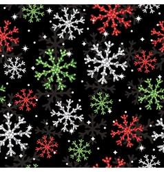 glitter snowflake pattern vector image
