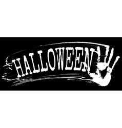 Halloween text vector image